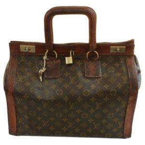 Rare Louis Vuitton Doctors Bag Steamer Tote VTG 0280e843b2